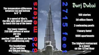 Tower Burj Khalifa Dubai - 828 meters