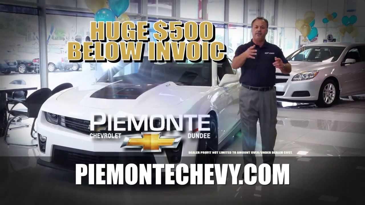 Al Piemonte Chevy >> Al Piemonte Chevy 500 Below Invoice