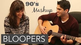 90s Bollywood MASHUP (BLOOPERS) | Shirley Setia ft. Arjun Bhat