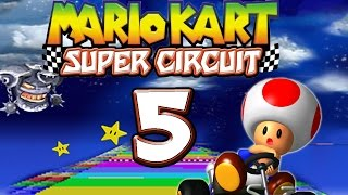 Let's Play MARIO KART SUPER CIRCUIT Part 5: Waghalsige Sprünge auf der Rainbow Road