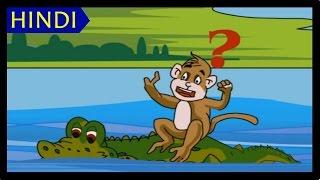 Bandar Aur Magarmach - FULL STORY HD | Moral Stories for Children | Bedtime Stories for Kids
