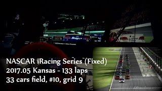 2017 NASCAR iRacing Series (fixed) R11 Kansas Speedway (night) 133 ...