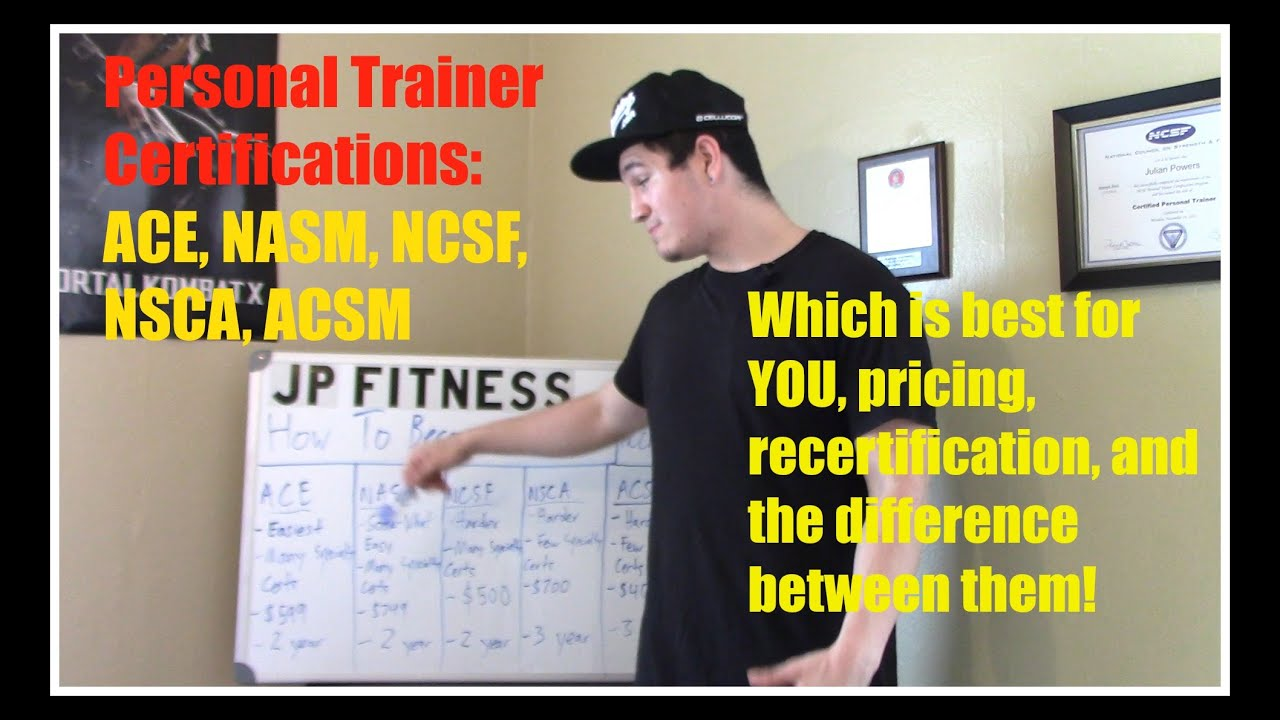 Personal trainer certifications which is best for you ace nasm personal trainer certifications which is best for you ace nasm ncsf nsca or acsm youtube xflitez Gallery