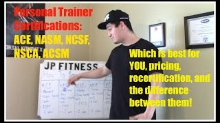 Personal Trainer Certifications- Which is best for YOU? ACE, NASM, NCSF, NSCA, or ACSM?