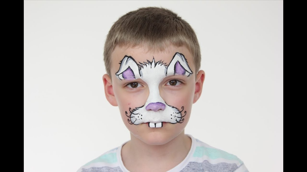 easter bunny face paint tutorial halloween rabbit face paint for