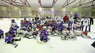 Хоккейный тур по ХМАО. Мастер-класс ХК \Югра\ в Лангепасе