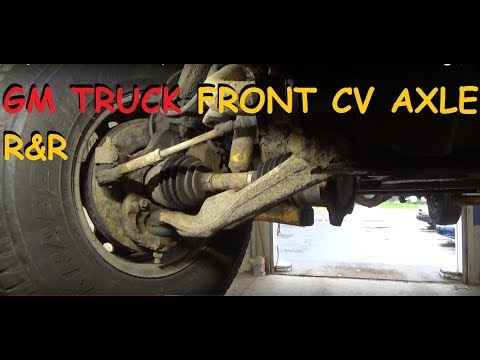 Chevy / GMC Truck: Front CV Axle Replacement