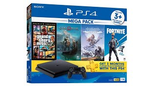 unboxing Sony Playstation 4 PS4 Slim 1TB Mega pack 2 bundle w GTA V God of War promo ps4 akhir tahun