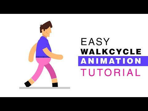 Walk cycle Character Animation Tutorial - After Effects Tutorial