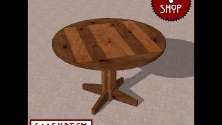 Chief's Shop Sketch Of The Day: Patio Bistro Table