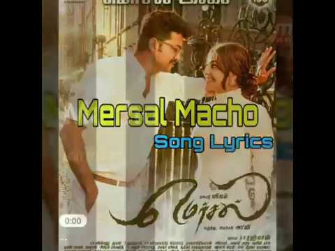 Mersal - Macho Tamil Lyric Video | Vijay |...