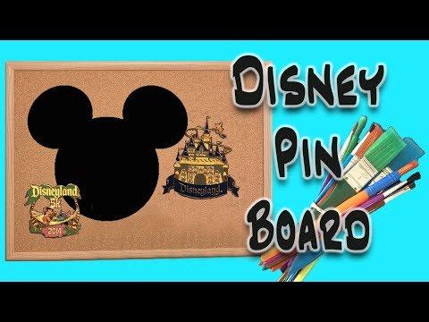 Disney Pin Trading Board Decorating DIY