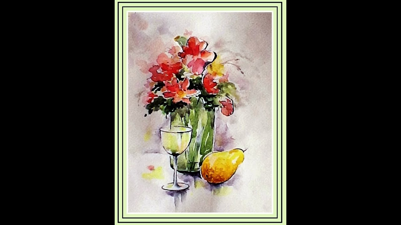 A professional in depth loose pick n mix flower watercolor for Ceramic mural tutorials