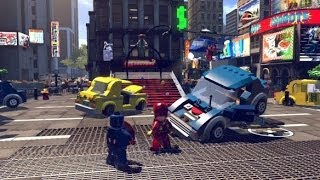 LEGO Marvel Super Heroes 100% Guide #2 - Times Square Off (All 10 Minikits, Stan Lee in Peril)