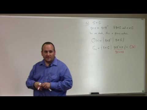 Abstract Algeba: L19, orbit stabilizer theorem, 10-17-16