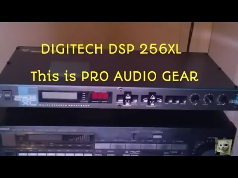 Digitech DSP 256XL Multi Effects Stereo PRO AUDIO Digital Sound Processor Demo