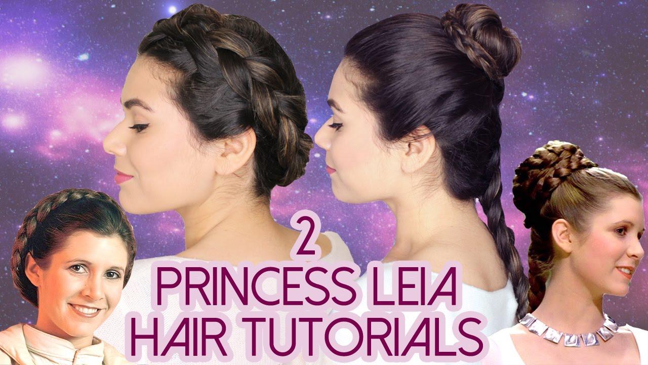 2 princess leia hair tutorials
