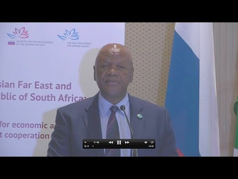 Minister Jeff Radebe meets Russian Deputy Prime Minister Truter during roundtable discussion