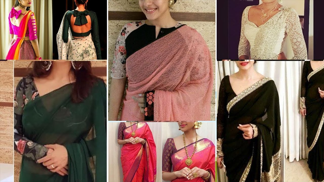 slimming design bluze saree)