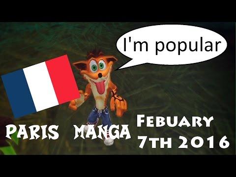 Crash Is Still Popular In France - Paris Manga Of Febuary 2016
