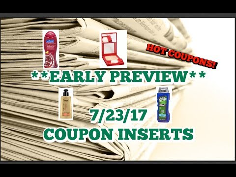 **EARLY PREVIEW**  7/23 COUPON INSERTS | SOFTSOAP | BIC & MORE!