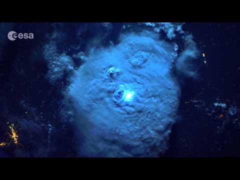 Striking lightning from space