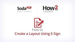 كيفية إنشاء تخطيط باستخدام E-Sign