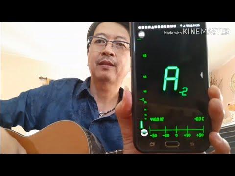 การตั้งสายกีต้าร์ด้วยสมาร์ทโฟนSetting up a guitar with a smartphoneDATUNER