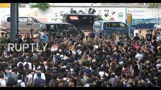 LIVE: Demonstrators protest against China extradition bill outside Hong Kong's Legislative Council
