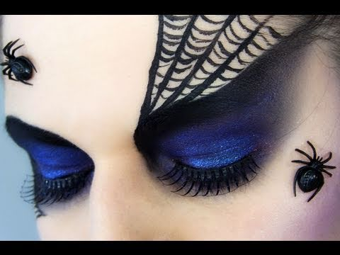 Spider Black Widow Halloween Makeup - YouTube