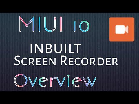 MIUI 10 Screen Recorder | MIUI Inbuilt Screen Recorder