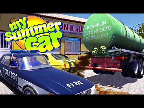 THE NEW SEWAGE PLANT! COMMITTING FELONY DUMPING CRIMES - My Summer Car Gameplay Highlights Ep 88