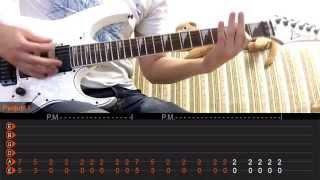 как играть RAMMSTEIN - DU HAST (урок на гитаре)