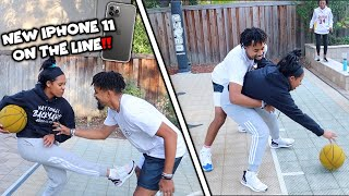 If She Scores On Me She Gets The *NEW iPHONE 11* | 1v1 Vs My Girlfriend..