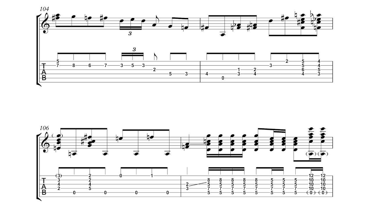 Joe Pass - You Are The Sunshine Of My Life Solo Jazz Guitar Transcription