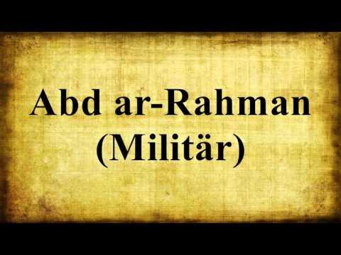 Abd ar-Rahman (Militär)