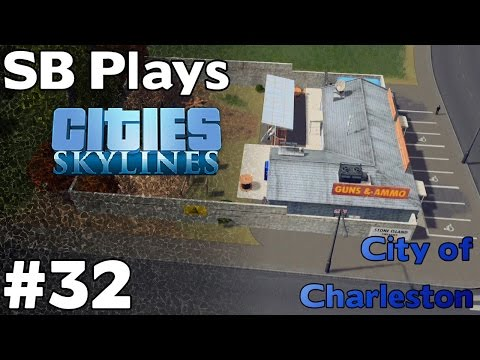 Trains, University, Guns and ammo! - SB Plays Cities Skylines ep32