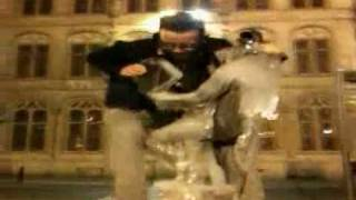 Drunk Guy Humps Not So Famous Statue