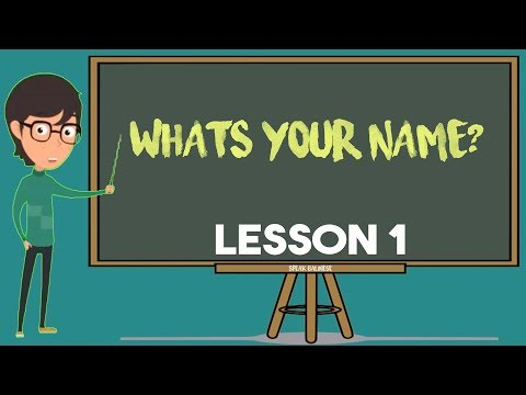 SPEAK BALINESE 2019 | What's Your Name? | Lesson 1