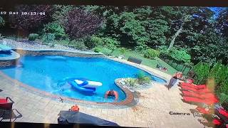 Husband Slipping into pool goes VIRAL