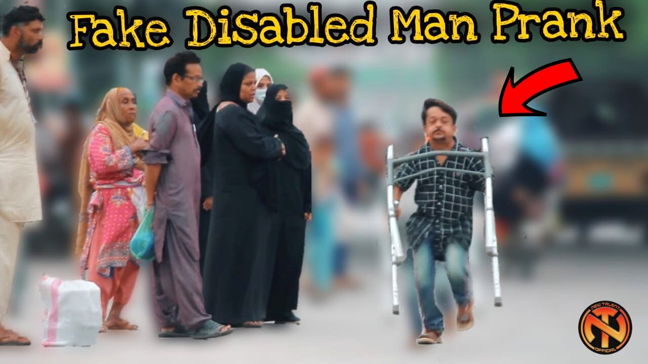 Fake Disabled Man Prank - Amazing Reactions - New Talent
