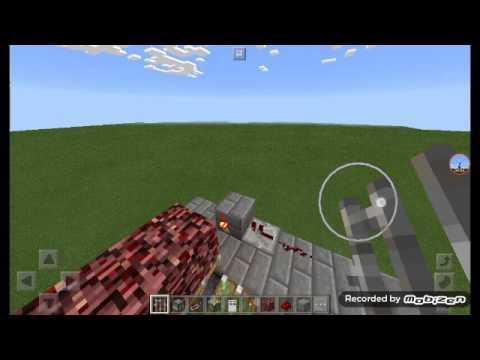 Как построить секретный проход в камине в Minecraft на планшете