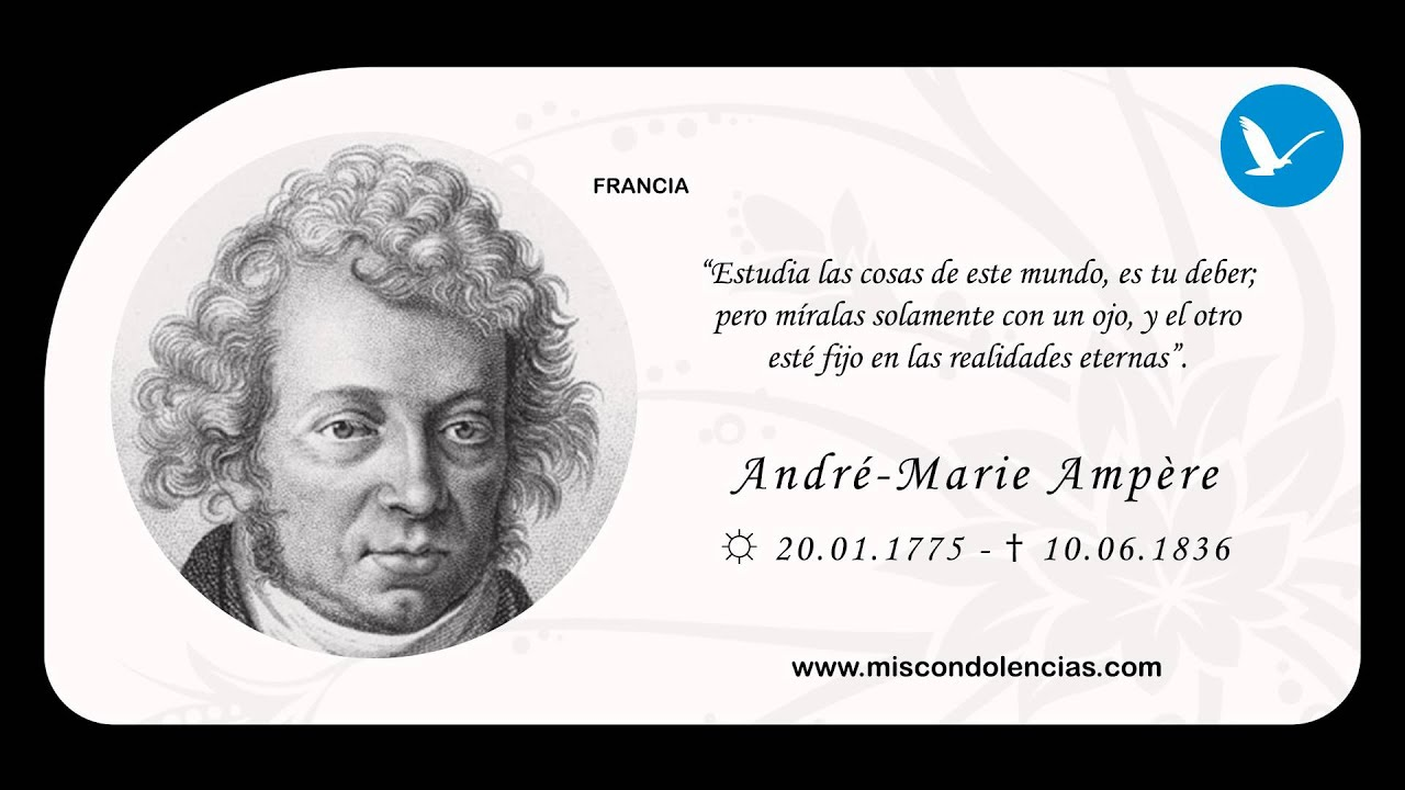 andre ampere biography Biography ampère was born on 20 january 1775 to jean-jacques ampère, a prosperous businessman, and jeanne antoinette.