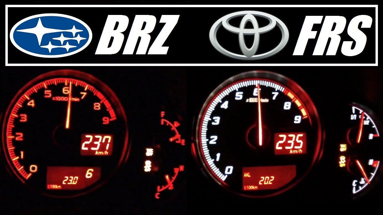 Subaru Brz Top Speed >> Subaru Brz Vs Toyota Gt86 Scion Frs Acceleration 0 235 Km H