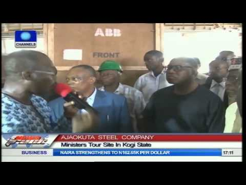 Ministers Tour Ajaokuta Steel Company In Kogi State