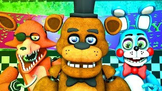 Five Nights at Freddy s 1, 2 3 Music FNAF SFM 4K Nightcore Extended