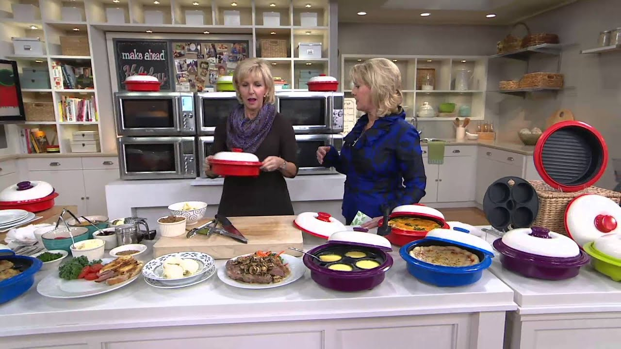 Rangemate Multi Cooker Nonstick Microwave Grill W Accessories On Qvc Youtube