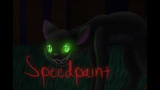 the devil is a mean black cat speedpaint
