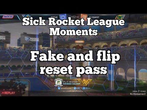 Sick Rocket League Moments: Fake and flip reset pass thumbnail