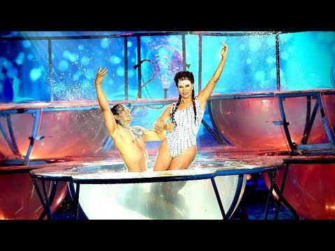 ¡Sin saber nadar! Anamá Ferreira dio lo mejor junto a Joel Ledesma en el Aquadance